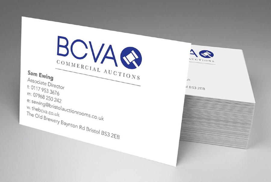 Sam Ewing business card from BCVA Commercial Auctions